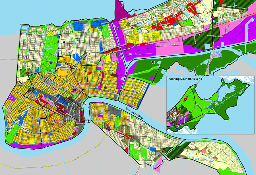 zoning map new orleans New Orleans Master Plan 4 Proposed Amendments To Urban Planning zoning map new orleans